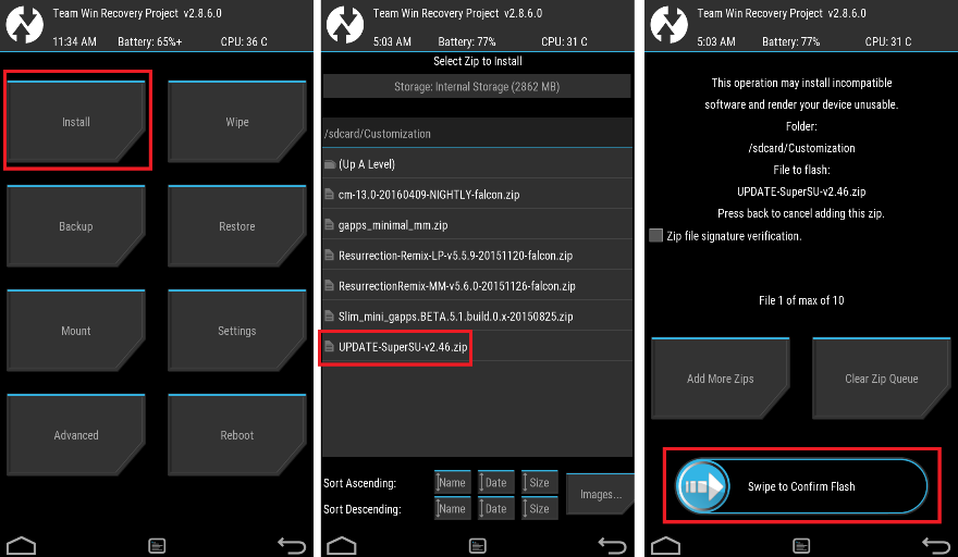 Flash SuperSU ROOT for Zenfone Lite L1 via TWRP