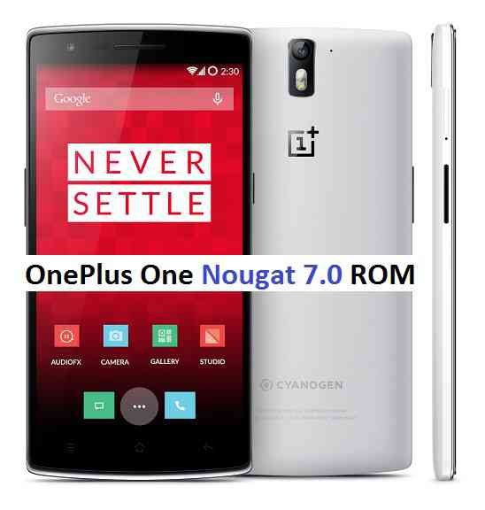 ONEPLUS ONE Lineage OS 14.1 ROM