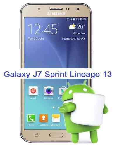 Lineage OS 13 for Galaxy J7 SPRINT (j7ltespr)