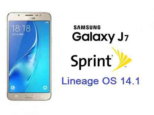 LineageOS 14.1 for Galaxy J7 SPRINT (j7ltespr)