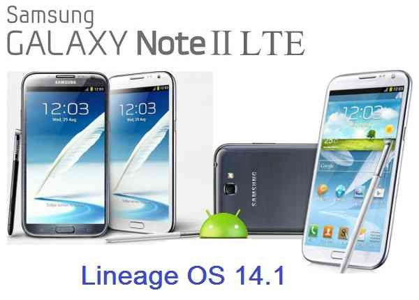 LineageOS 14.1 for Galaxy NOTE 2 LTE (t0lte, SM-N7105)