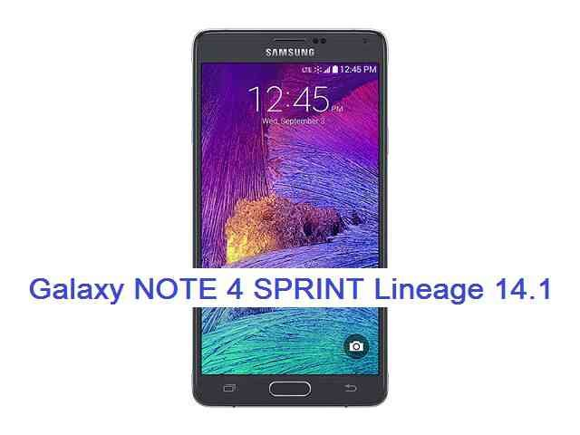 LineageOS 14.1 for Galaxy NOTE 4 Sprint (trltespr)