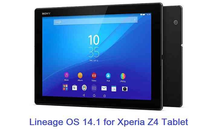 LineageOS 14.1 for Xperia Z4 Tablet