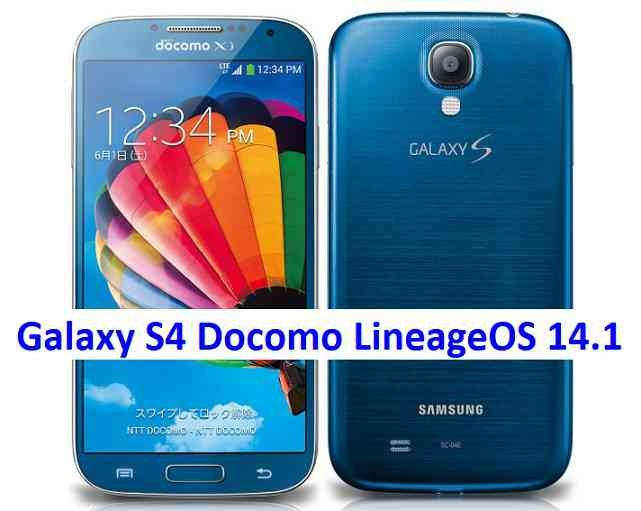 LineageOS 14.1 for Galaxy S4 Docomo Nougat 7.1 ROM