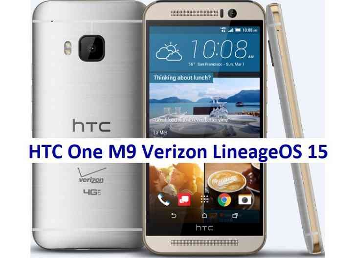 LineageOS 15 for HTC One M9 Verizon Oreo 8 ROM