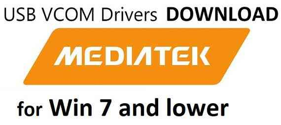Download and Install Mediatek USB VCOM Driver on Windows 7