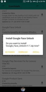 FACE UNLOCK] Enable Face Unlock Feature on Any Android Phone