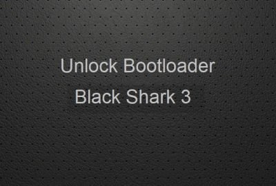 unlock bootloader black shark 3